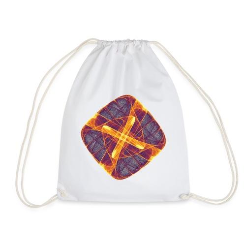 Chakra Mandala Mantra OM Chaos Star Circle 12255i - Drawstring Bag