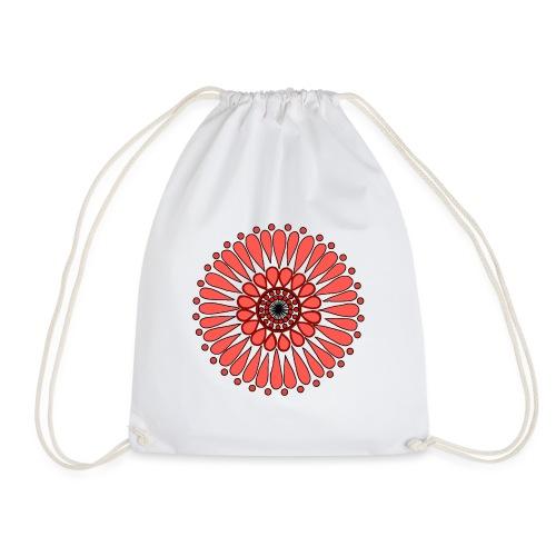 Peach Double Sunflower - Drawstring Bag