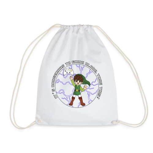 Dangerous To Game Alone - Drawstring Bag