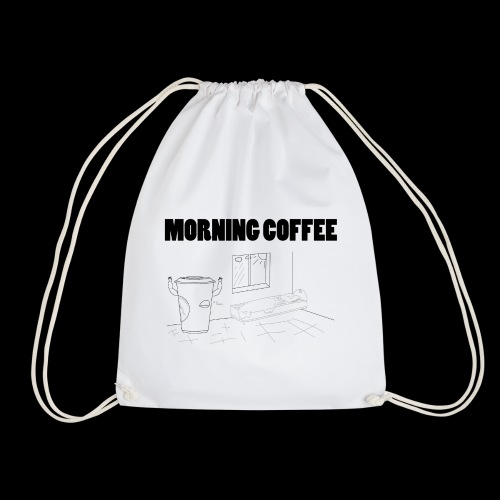 Morning Coffee - Drawstring Bag