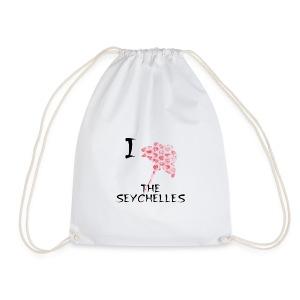 I Love The Seychelles - Drawstring Bag