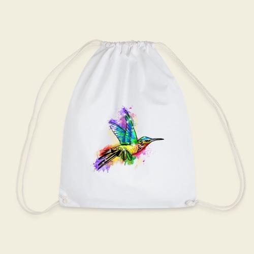 Farbexplosion Kolibri - Turnbeutel