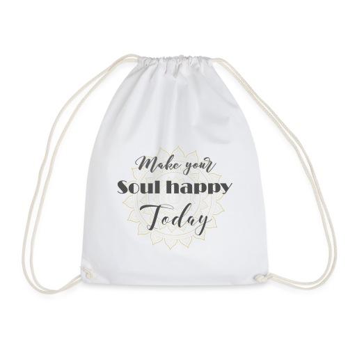 Make your soul happy today - grey mandala - Turnbeutel