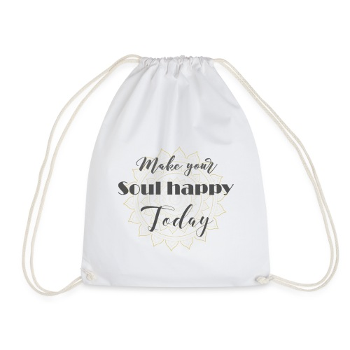 Make your soul happy today - grey mandala - Turnbeutel