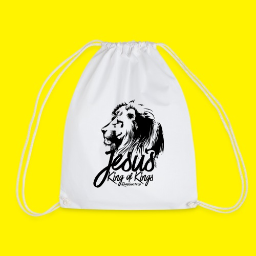 JESUS - KING OF KINGS - Revelations 19:16 - LION - Drawstring Bag
