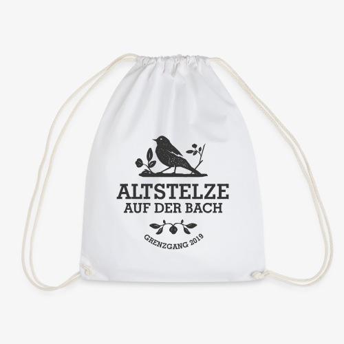 Altstelzen Logo - Schwarz - Turnbeutel