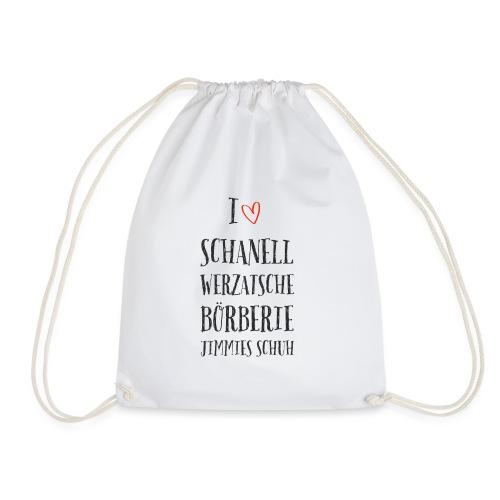 I love Schanell: das Modeshirt für Markenaffine - Turnbeutel