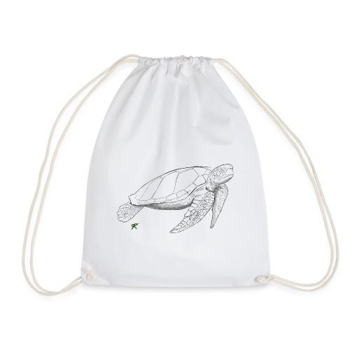 Sea turtle sketch - Sacca sportiva