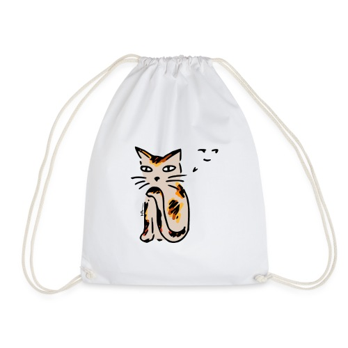 Hinterhältige Katze - Turnbeutel
