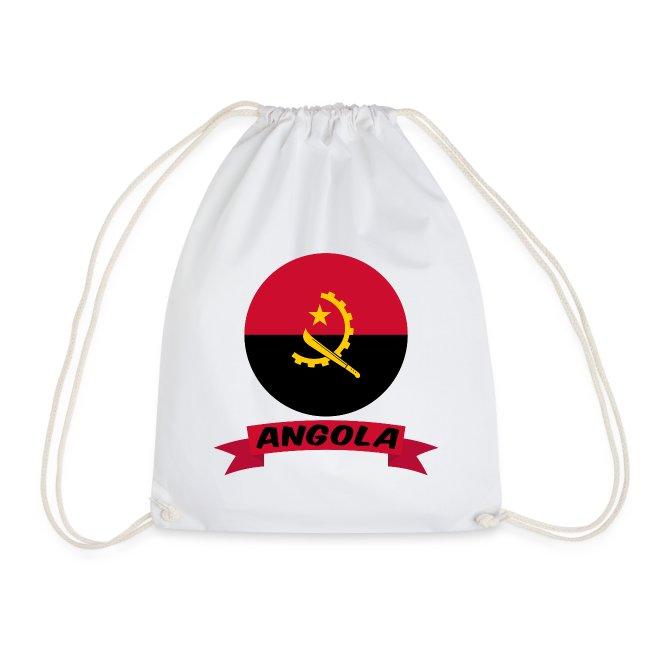 flag of Angola t shirt design ribbon banner