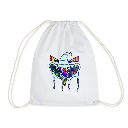 Rainbow Ice Cream Shark Teeth Monster Colorful - Turnbeutel