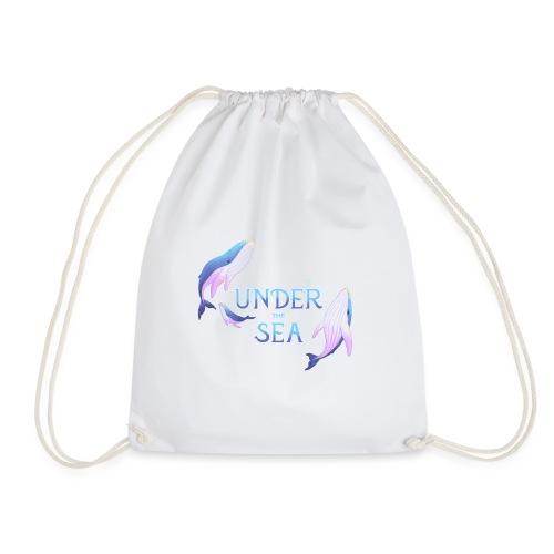 Under the Sea - Les Baleines - Drawstring Bag