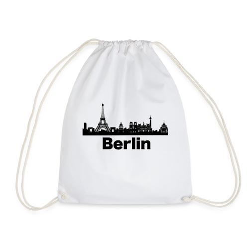 Verwirrende T-Shirts Berlin Paris Skyline - Turnbeutel