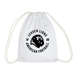 Lions old school black - Drawstring Bag