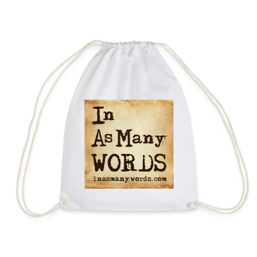 I AM Words LOGO_Brown - Drawstring Bag
