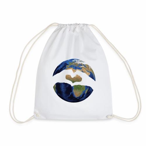 Zu zweit um die Welt - Logo - Turnbeutel