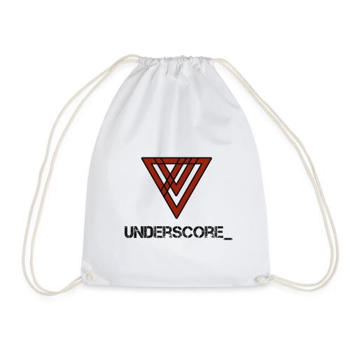 Design -Red White - Drawstring Bag