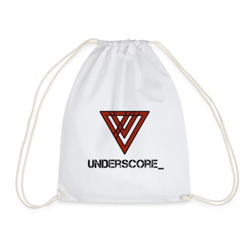 Design -Red White - Drawstring Bag