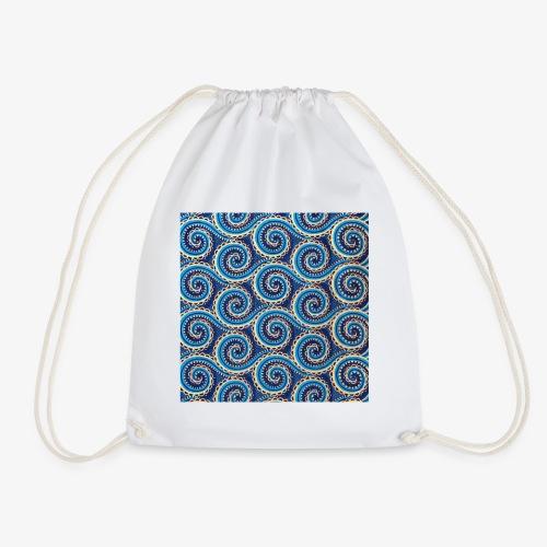 Spirales au motif bleu - Sac de sport léger