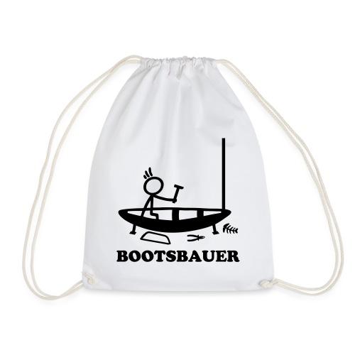Bootsbauer - Strichmännchen - Turnbeutel