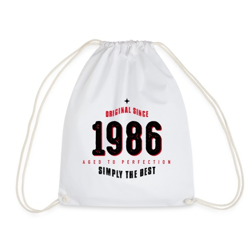 original since 1986 simply the best 30th birthday - Drawstring Bag