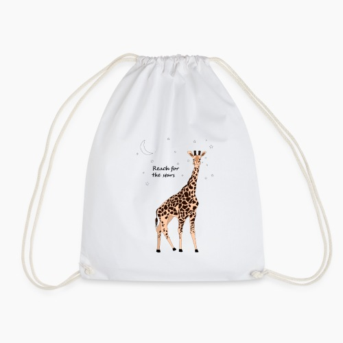 Giraffe - Reach for the stars - Drawstring Bag