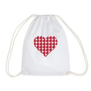 Miłość-love-Valentine dzień serce - Worek gimnastyczny