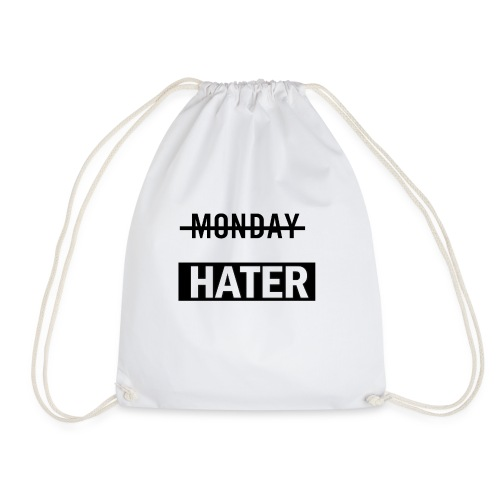 monday hater - Drawstring Bag