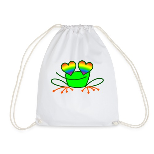 Pride Frog in Love - Drawstring Bag