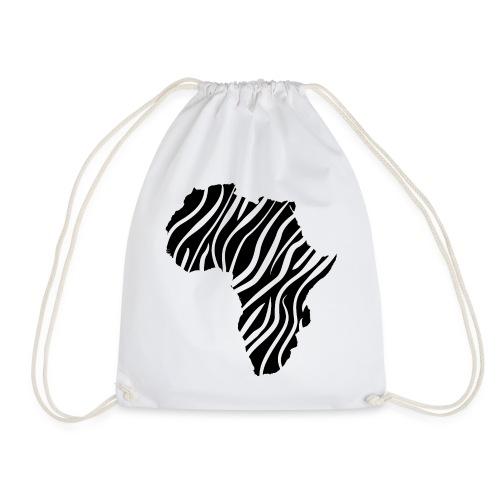 African continent in dark zebra stripes - Gymtas