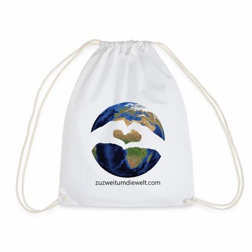 Zu zweit um die Welt: Logo mit Schriftzug - Turnbeutel