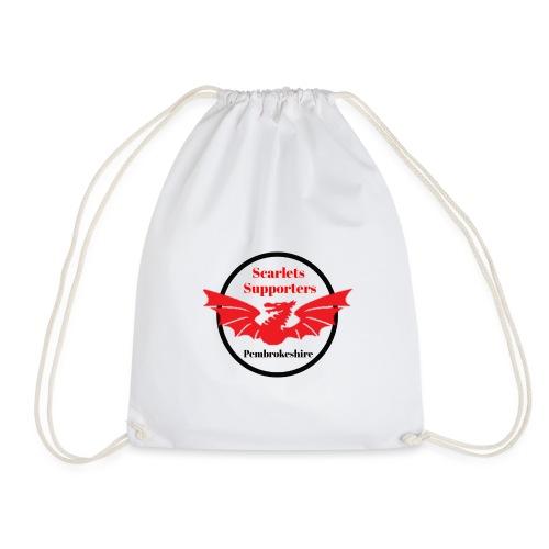 Scarlets Supporters Pembrokeshire logo 2 - Drawstring Bag
