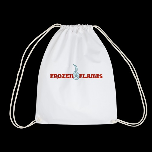 Frozen Flames Logo Schrift Pixel - Turnbeutel