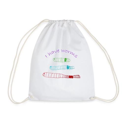 I have worms - Drawstring Bag