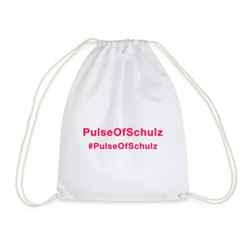 PulseOfSchulz - Schriftzug rot - Turnbeutel