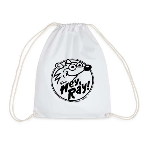 Hey Ray Logo black - Turnbeutel