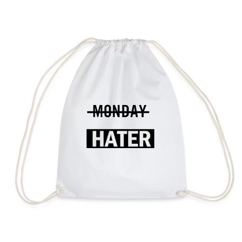 monday hater - Drawstring Bag