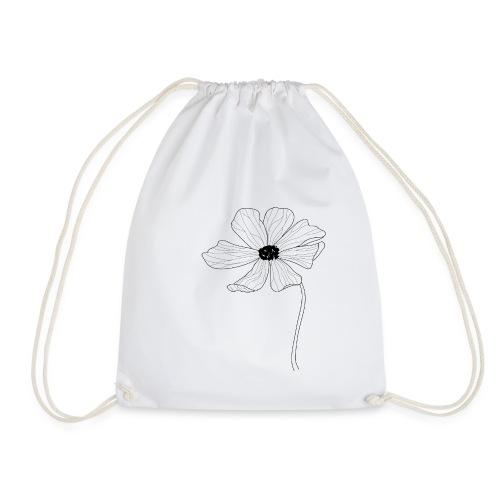 Simple flower design. - Drawstring Bag