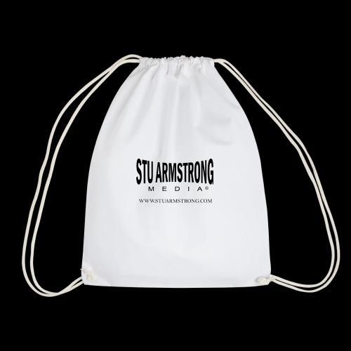 Stu Armstrong Media Black Logo - Drawstring Bag