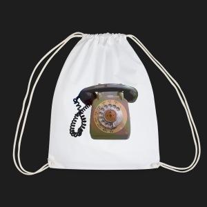 Grey Telephone - Drawstring Bag