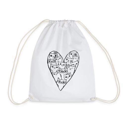 I Love Cats - Drawstring Bag