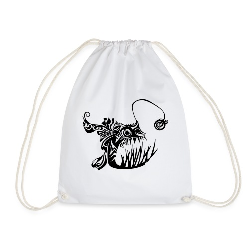 Cranky anglerfish - Drawstring Bag