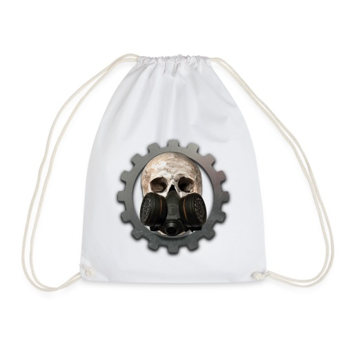 EBM - ELECTRONIC BODY MUSIC DEATH HEAD RESPIRATOR - Drawstring Bag