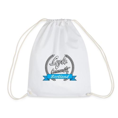 cycle community scotland Big tee - Drawstring Bag