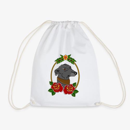 Blue Greyhound - Drawstring Bag