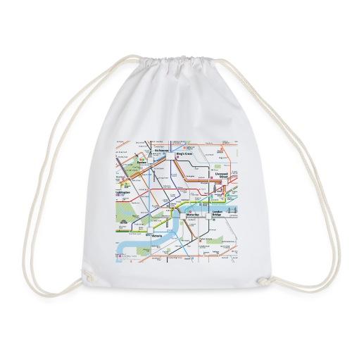 London Map Square - Drawstring Bag