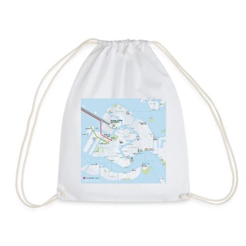 Venice Map Square - Drawstring Bag