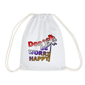 Don't be worri happy - Heren Shirt - Gymtas