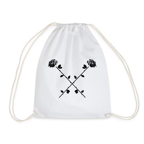Crossed Roses - Drawstring Bag