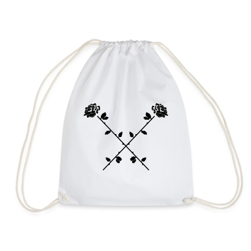Crossed Roses - Drawstring Bag